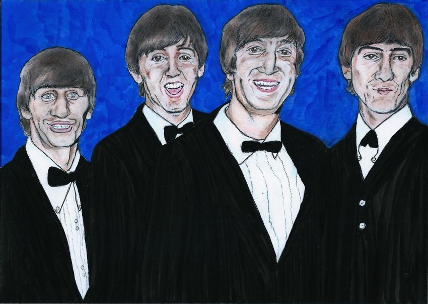 George Harrison, John Lennon, Paul McCartney, Ringo Starr, The Beatles par Vanessafari